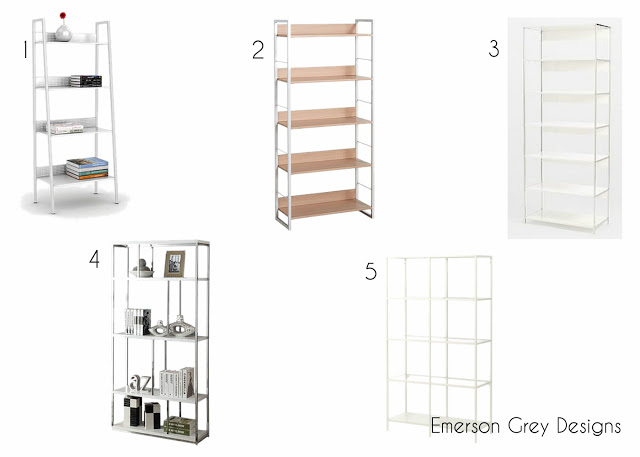 The Perfect White, Simple Bookcase {a Round-up}